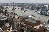 The Thames at Tower Bridge from the Monument City of London