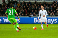 Leon Brittonw of Swansea in action during the Barclays Premier League match between Swansea City and Sunderland played at the Liberty Stadium, Swansea  on  January the 13th 2016