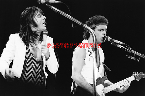 Journey 1982 Steve Peery and Neal Schon.© Chris Walter.