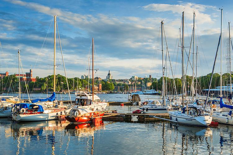 Segelbåter i gästhamnen på Djurgården i Stockholm