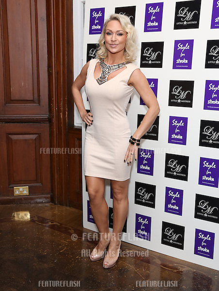 Kristina Rihanoff arriving for the Style for Stroke Party, 5 Cavendish Square, London. 02/10/2012 Picture by: Henry Harris  / Featureflash