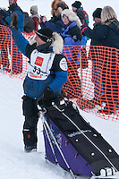 Musher # 53 Sven Haltmann at the Restart of the 2009 Iditarod in Willow Alaska