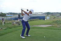 Matteo Manassero (ITA) on the 10th tee during Round 2 of the KLM Open at Kennemer Golf &amp; Country Club on Friday 12th September 2014.<br /> Picture:  Thos Caffrey / www.golffile.ie