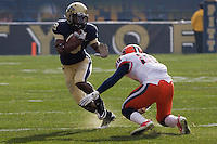 Pitt running back Corey Davis (9). The Pittsburgh Panthers beat the Syracuse Orange 33-20 at Heinz Field in Pittsburgh, Pennsylvania on December 3, 2011