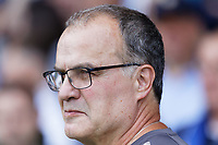 LEEDS, ENGLAND - AUGUST 31: Leeds United manager Marcelo Bielsa walks to the technical area during the Sky Bet Championship match between Leeds United and Swansea City at Elland Road on August 31, 2019 in Leeds, England. (Photo by Athena Pictures/Getty Images)