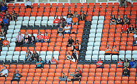 Blackpool fans watch the match<br /> <br /> Photographer Kevin Barnes/CameraSport<br /> <br /> Football - The EFL Sky Bet League Two - Blackpool v Exeter City - Saturday 6th August 2016 - Bloomfield Road - Blackpool<br /> <br /> World Copyright &copy; 2016 CameraSport. All rights reserved. 43 Linden Ave. Countesthorpe. Leicester. England. LE8 5PG - Tel: +44 (0) 116 277 4147 - admin@camerasport.com - www.camerasport.com