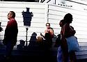 Women on the streetsin the City of Barcelona in Catalunya in Spain in Europe