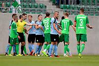 RODINGHAUSEN, Voetbal, Rodinghausen - FC Groningen, voorbereiding  seizoen 2017-2018, 15-07-2017, opstootje wordt gesust