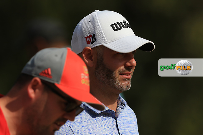 Paul Waring (ENG) on the 3rd tee during Round 4 of the Omega Dubai Desert Classic, Emirates Golf Club, Dubai,  United Arab Emirates. 27/01/2019<br /> Picture: Golffile | Thos Caffrey<br /> <br /> <br /> All photo usage must carry mandatory copyright credit (© Golffile | Thos Caffrey)