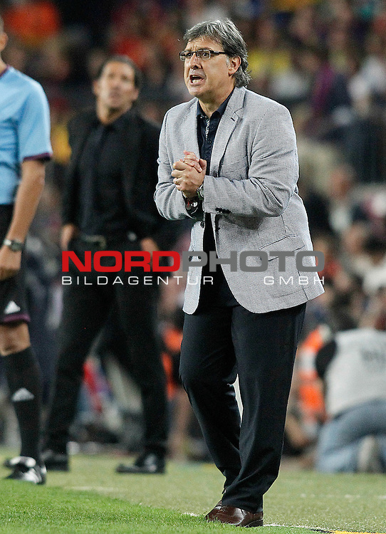FC Barcelona's coach Gerardo Tata Martino during Supercup of Spain 2nd match.August 28,2013. Foto © nph / Acero)