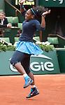 May 24, 2016:  Serena Williams (USA) defeated Magdalena Rybarikova (SVK) 6-2, 6-0, at  Roland Garros being played at Stade Roland Garros in Paris, .  ©Leslie Billman/Tennisclix/CSM