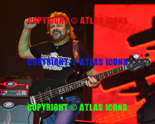 WEST PALM BEACH - APRIL 30: Michael Anthony of Sammy Hagar and The Circle performs during Day 2 of Sunfest on April 30, 2015 in West Palm Beach, Florida.(Photo By Larry Marano (C) 2015
