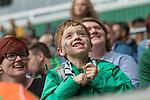 05.08.2017, Weserstadion, Bremen, GER, FSP, SV Werder Bremen (GER) vs FC Valencia (ESP)<br /> <br /> im Bild<br /> weiblicher Werder Fan mit Werder Raute Tattoo  auf der Backe auf Trib&uuml;ne, <br /> <br /> Foto &copy; nordphoto / Ewert