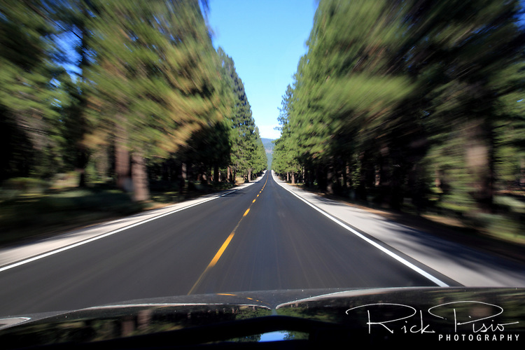 Moving along Northern California's Highway 36 near Lake Almanor in Northern California.