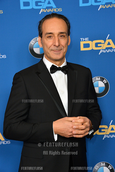 Alexandre Desplat at the 70th Annual Directors Guild Awards at the Beverly Hilton Hotel, Beverly Hills, USA 03 Feb. 2018<br /> Picture: Paul Smith/Featureflash/SilverHub 0208 004 5359 sales@silverhubmedia.com