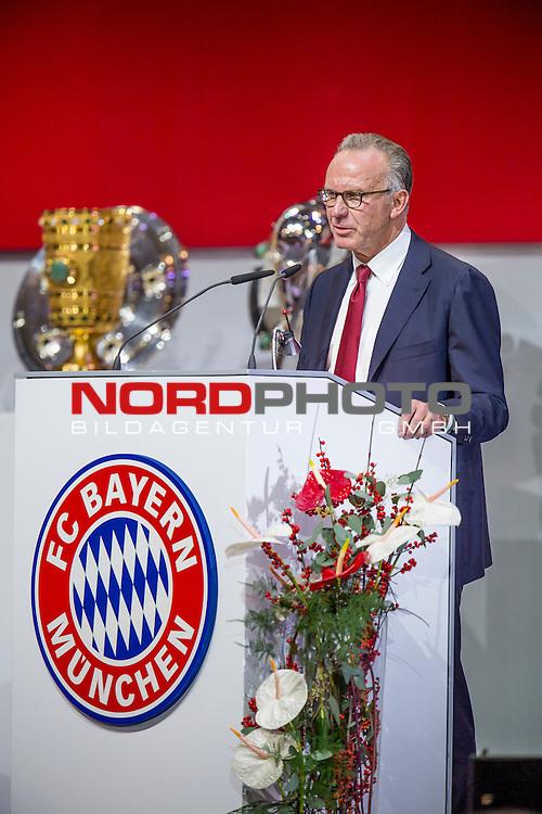 25.11.2016, Audi Dome, Muenchen, GER, FC Bayern Jahreshauptversammlung 2016, im Bild Karl-Heinz Rummenigge (Vorstandsvorsitzender FCB) <br /> <br /> Foto &copy; nordphoto / Straubmeier