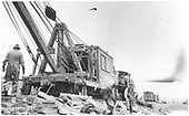 Wreck at Espanola - derrick positioned for next lift.<br /> D&amp;RGW  Espanola, NM  1921