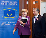 Brussels-Belgium - March 15, 2013 -- European Council, EU-summit meeting of Heads of State / Government; here, Angela MERKEL (le), Federal Chancellor of Germany, with Viktor ORBAN (Orbán)(ri), Prime Minister of Hungary -- Photo: © HorstWagner.eu