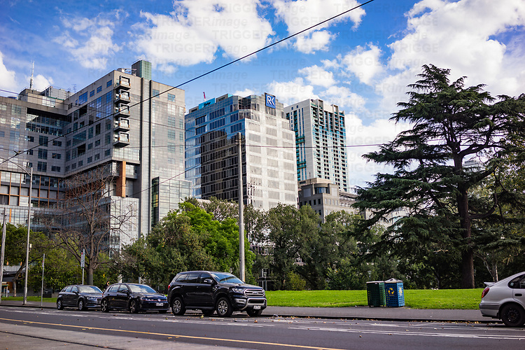 Highrise buildings in Melbourne Australia