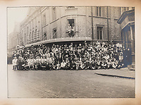 BNPS.co.uk (01202 558833)<br /> Pic: ForumAuctions/BNPS<br /> <br /> Pictured:  The massive Oxford Union Dramatic Society cast for 'The Dynasts' in 1920.<br /> <br /> Charming previously unseen photos of a university's historic Thomas Hardy's production have come to light a century later.<br /> <br /> They show the performance of his play 'The Dynasts' by the Oxford Union Dramatic Society in 1920.<br /> <br /> It was the first time the prestigious society, which was founded in 1885, staged a play by a living author.<br /> <br /> The large ensemble cast can be seen in costume performing various scenes from Hardy's epic Napoleonic Wars drama which was published in three parts in 1904, 1905 and 1908.<br /> <br /> Hardy was a distant relative of Captain Thomas Hardy, who served with Admiral Nelson at the Battle of Trafalgar.