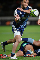 Jamison Gibon-Park in action during the Super Rugby - Hurricanes v Blues at FMG Stadium, Palmerston North, New Zealand on Friday 13 March 2015. <br /> Photo by Masanori Udagawa. <br /> www.photowellington.photoshelter.com.