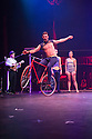 London, UK. 10.04.2014. Australian circus ensemble, Company 2, bring SHE WOULD WALK THE SKY to the Roundhouse, as part of CircusFest 2014. Picture shows: David Carberry (The Strong Man). Photograph © Jane Hobson.