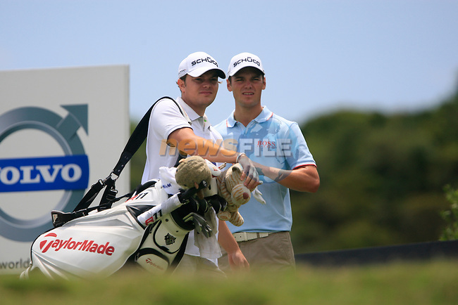 Martin Kaymer (GER) and his brother Philip caddying after teeing off on the 5th tee during the afternoon session on Day 2 of the Volvo World Match Play Championship in Finca Cortesin, Casares, Spain, 20th May 2011. (Photo Eoin Clarke/Golffile 2011)