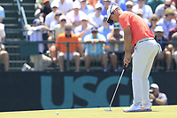 Paul Casey (ENG) putts on the 7th green during Saturday's Round 3 of the 118th U.S. Open Championship 2018, held at Shinnecock Hills Club, Southampton, New Jersey, USA. 16th June 2018.<br /> Picture: Eoin Clarke | Golffile<br /> <br /> <br /> All photos usage must carry mandatory copyright credit (&copy; Golffile | Eoin Clarke)