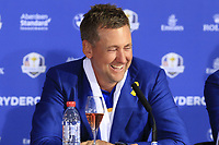 Ian Poulter (Team Europe) at the press conference after Europe win the Ryder Cup 17.5 to 10.5 at the end of Sunday's Singles Matches at the 2018 Ryder Cup 2018, Le Golf National, Ile-de-France, France. 30/09/2018.<br /> Picture Eoin Clarke / Golffile.ie<br /> <br /> All photo usage must carry mandatory copyright credit (&copy; Golffile | Eoin Clarke)