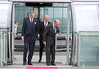 28 October 2016 - Brighton, UK - Prince Philip Duke of Edinburgh during his visit to the British Airways i360 attraction in Brighton East Sussex where he took a ride on the world's first vertical cable car. The futuristic-looking structure opened on August 4 and is the world's tallest moving observation tower, standing where the wrecked Grade I-listed West Pier, built in 1866, joined the seafront promenade. Photo Credit: Alpha Press/AdMedia