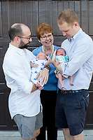Garret, Zach and their twins, Robert Clarke and Elizabeth Jean in Chapel Hill, NC on Monday, July 31, 2017. (Justin Cook for The Guardian)