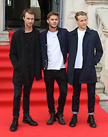 Hugh Skinner, Jeremy Irvine and Josh Dylan at the Film4 Summer Screen: The Wife Opening Gala at Somerset House, Strand, London, England, UK on Thursday 9th August 2018.<br /> CAP/ROS<br /> &copy;ROS/Capital Pictures