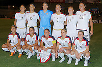 SOCCER/FUTBOL.TORNEO PREOLIMPICO FEMENIL CONCACAF 2008.USA VS JAMAICA.MEXSPORT DIGTIAL IMAGE.04 April 2008:  Action photo of USA team, during game of the Womens Preolympic soccer tournament held at Ciudad Juarez. Mexico./Foto de accion del equipo de Estados Unidos, durante juego del Torneo Preolimpico femenil celebrado en Ciudad Juarez, Mexico. MEXSPORT/OMAR MARTINEZ