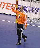 15.01.2013 Granollers, Spain. IHF men's world championship, prelimanary round. Picture showThierry Omeyer   in action during game between France v Brazil at Palau d'esports de Granollers