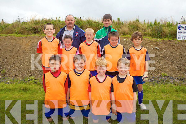 Members of the Athea AFC U10's who took part in the underage soccer tournament held in the local soccer pitch in Mountcollins last Saturday. F l-r: John Sexton, Micah O'Connell, David O'Connor, Jack O'Connor. M l-r: Daniel McEldowney, Ciara O'Sea, Michael Dalton, Ryan O'Connell, Cathal O'Brien. B l-r: Mike O'Connell, David O'Connor.