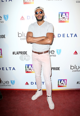 WEST HOLLYWOOD, CA June 11- Guest, at LA PRIDE 2017 at West Hollywood Park, California on June 11, 2017. Credit: Faye Sadou/MediaPunch