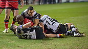 16th March 2018, The AJ Bell Stadium, Salford, England; Betfred Super League rugby, Salford Red Devils versus Hull FC; Robert Lui rounds of a superb performance with a try that he went on to convert to make the score 28-8 to Salford
