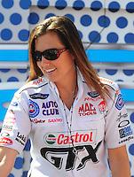 Apr. 13, 2008; Las Vegas, NV, USA: NHRA funny car driver Ashley Force prior to the SummitRacing.com Nationals at The Strip in Las Vegas. Mandatory Credit: Mark J. Rebilas-