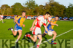 St. Pats Brendan Poff get away from Beaufort's Nathan Breen at the county league Div 3 St Pats Blennerville v Beaufort at Blennerville on Saturday