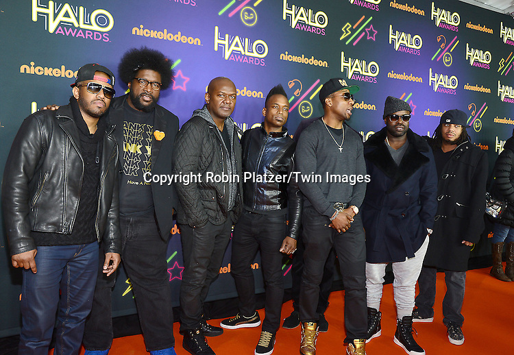 The Roots attend the 6th Annual Nickelodeon Halo Awards on November 15, 2014 at Pier 36 in New York City. <br /> <br /> photo by Robin Platzer/Twin Images<br />  <br /> phone number 212-935-0770
