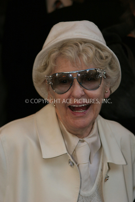 "WWW.ACEPIXS.COM . . . . . ....April 19 2006, New York City....ELAINE STRITCH....Arrivals at the opening night of ""Three Days of Rain"" staring Julia Roberts at the Bernard B Jacobs Theatre in midtown Manhattan....Please byline: NANCY RIVERA  - ACEPIXS.COM..... . . . . ..Ace Pictures, Inc:  ..(212) 243-8787 or (646) 679 0430..e-mail: picturedesk@acepixs.com..web: http://www.acepixs.com"