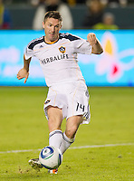 CARSON, CA - November 6, 2011: LA Galaxy forward Robbie Keane (14) during the match between LA Galaxy and Real Salt Lake at the Home Depot Center in Carson, California. Final score LA Galaxy 3, Real Salt Lake 1.
