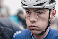 An exhausted Yves Lampaert (BEL/Quick Step floors) post-race<br /> <br /> 61th E3 Harelbeke (1.UWT)<br /> Harelbeke - Harelbeke (206km)