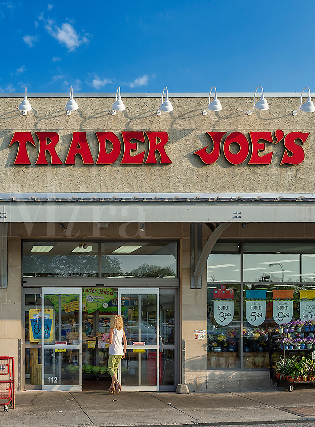 Exterior of Trader Joe's specialty food store, Ardmore, Pennsylvania, USA