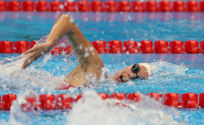 Rio de Janeiro-15/9/2016- Canadian swimmer Aurelie Rivard competes in the women's 400m freestyle at the Olympic Aquatics Stadium at the 2016 Paralympic Games in Rio. Photo Scott Grant/Canadian Paralympic Committee