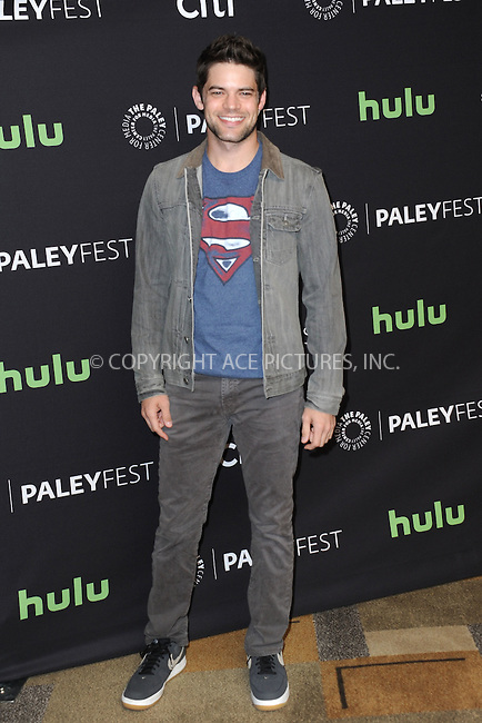 WWW.ACEPIXS.COM<br /> <br /> March 13 2016, LA<br /> <br /> Actor Jeremy Jordan arriving at The Paley Center For Media's 33rd Annual PALEYFEST 'Supergirl' at the Dolby Theatre on March 13, 2016 in Hollywood, California.<br /> <br /> <br /> By Line: Peter West/ACE Pictures<br /> <br /> <br /> ACE Pictures, Inc.<br /> tel: 646 769 0430<br /> Email: info@acepixs.com<br /> www.acepixs.com