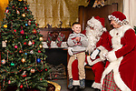 BETHLEHEM, CT. 07 December 2018-120718 - Santa and Mrs Claus talk to Carter Ulrich-Trozzi, 4, of Morris about what he wants for Christmas this year during the annual Christmastown Festival on the Town Green in Bethlehem on Friday. Bill Shettle Republican-American