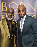 "BeBe Winans and Donald Webber Jr. backstage after a Song preview performance of the Bebe Winans Broadway Bound Musical ""Born For This"" at Feinstein's 54 Below on November 5, 2018 in New York City."