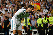 1st October 2017, Santiago Bernabeu, Madrid, Spain; La Liga football, Real Madrid versus Espanyol; Francisco Roman Alarcon (22) Real Madrid celebrates after scoring his teams goal