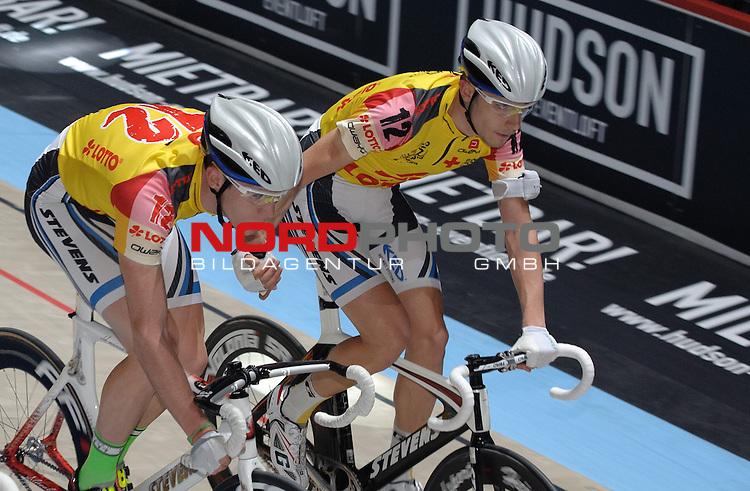 10.01.2014, &Ouml;VB Arena, Bremen, GER, Sixdays Bremen, im Bild Hans Pirius / Sebastian Wotschke (Team Lotto #12)<br /> <br /> Foto &copy; nordphoto / Frisch